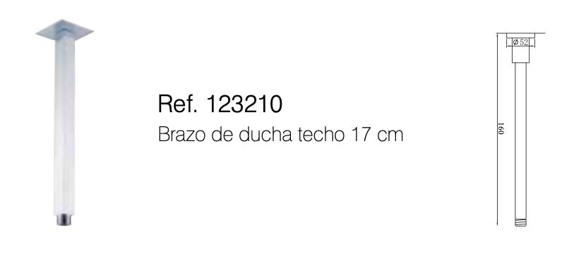 BRAZO DUCHA TECHO REF 123210