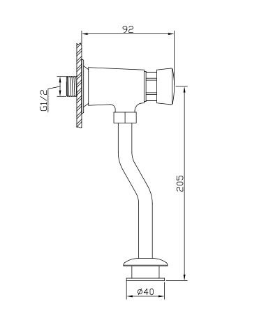 Ficha tecnica Grifo de urinario 121714