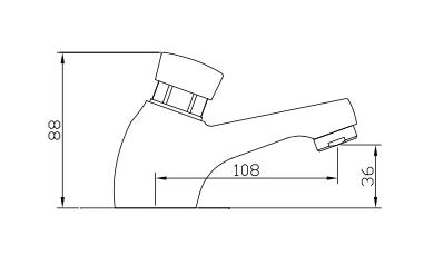 Ficha tecnica Grifo temporizado lavabo 121711