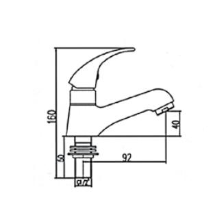 Ficha tecnica monomando de 1 agua 121501M
