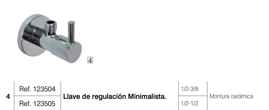Llave regulacion minimalista