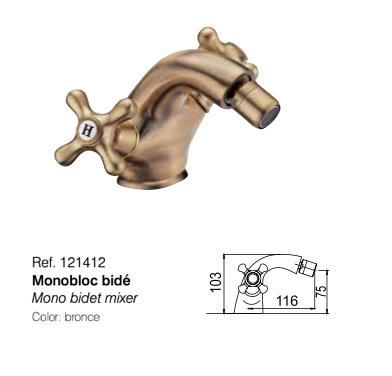 Monobloc bide CLASSIC 121412