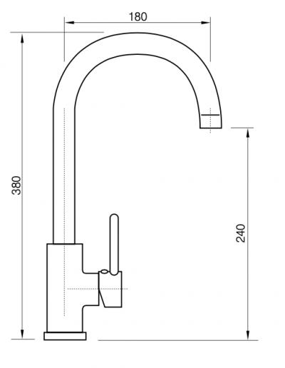 Monomando fregadero qala ficha tecnica ref 121020C