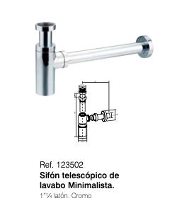 Sifon telescopico de lavabo minimalista 123502
